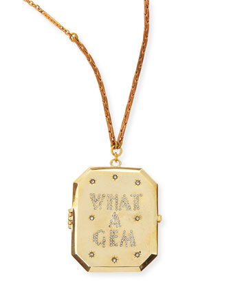 What a Gem Golden Locket Necklace