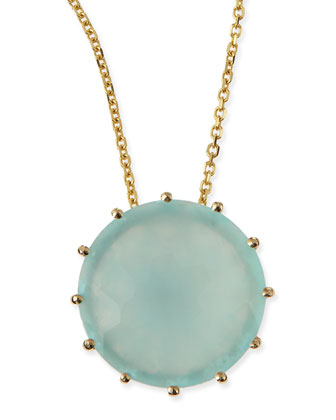 12mm Round Chalcedony Pendant Necklace
