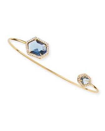 Pinch Bracelet, Blue