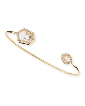 Pinch Bracelet, Clear