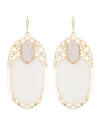 Deva Glitz White Earrings