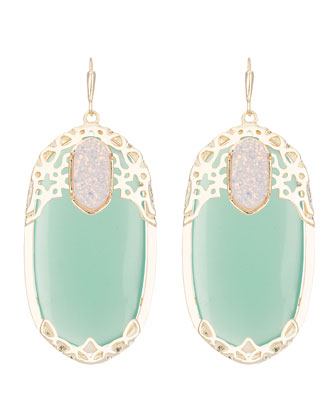 Deva Lotus Green Chalcedony Earrings