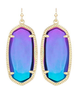 Elle Black Iridescent Earrings