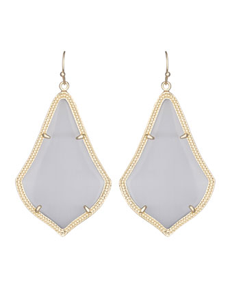 Alexandra Earrings, Slate