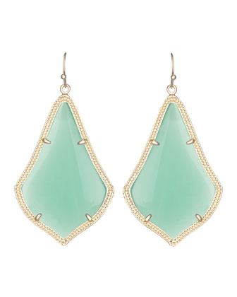 Alexandra Earrings, Chalcedony