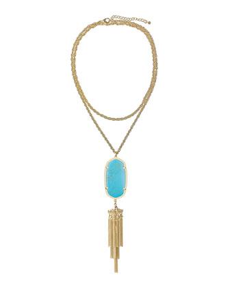 Rayne Pendant Necklace, Turquoise