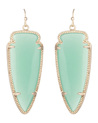 Skylar Earrings, Chalcedony