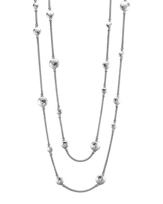 Palu Silver Disc Stations Sautoir Necklace, 72