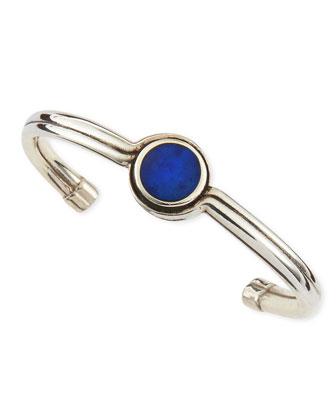 Telepathy Blue Lapis Silver Cuff