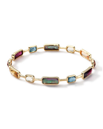 18k Gold Rock Candy Gelato Multi-Stone Bangle