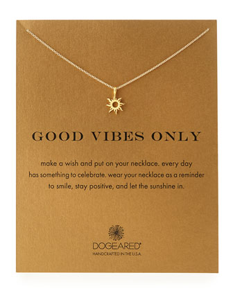 Gold-Dipped Good Vibes Necklace