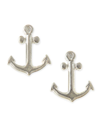 Sterling Silver Friendship Anchor Earrings