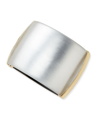 Liquid Metal Lucite Hinge Bracelet (Made to Order), Silver