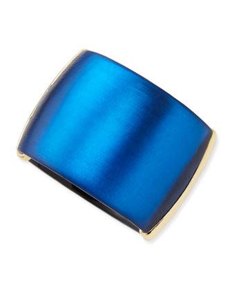 Liquid Metal Lucite Hinge Bracelet (Made to Order), Cobalt