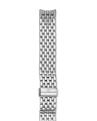 Serein 16mm Stainless Steel Diamond 7-Link Taper Bracelet