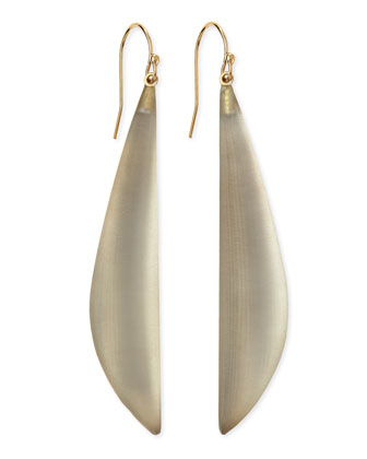 Long Angled Lucite Drop Earrings (Made to Order), Warm Gray