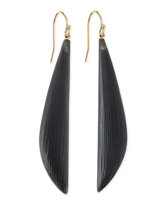 Long Angled Lucite Drop Earrings (Made to Order), Black
