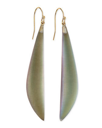 Long Angled Lucite Drop Earrings (Made to Order), Labradorite
