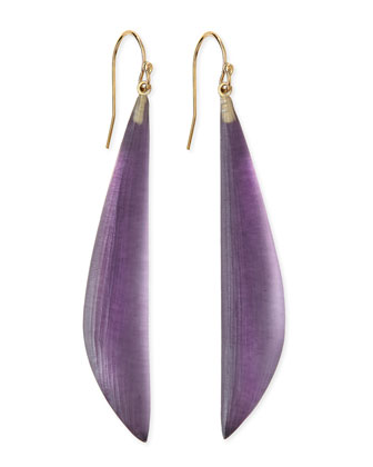 Long Angled Lucite Drop Earrings (Made to Order), Blueberry