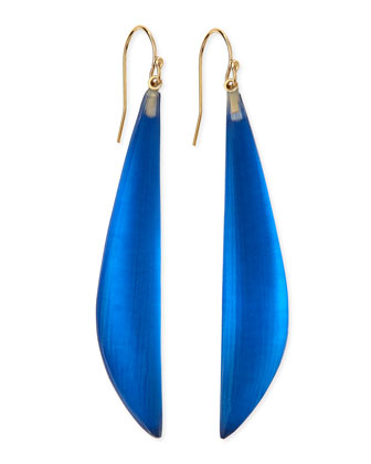 Long Angled Lucite Drop Earrings (Made to Order), Cobalt