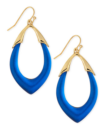 Medium Lucite Orbit Link Drop Earrings (Made to Order), Cobalt