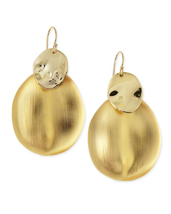 Liquid Chip Wire Lucite Earrings (Made to Order), Gold