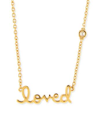 14k Gold Vermeil Loved Necklace