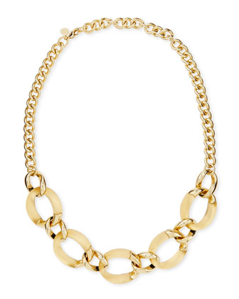 Lucite Curb-Link Necklace (Made to Order), Gold