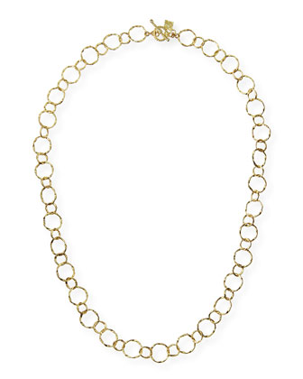 18k Yellow Gold Circle Necklace, 18