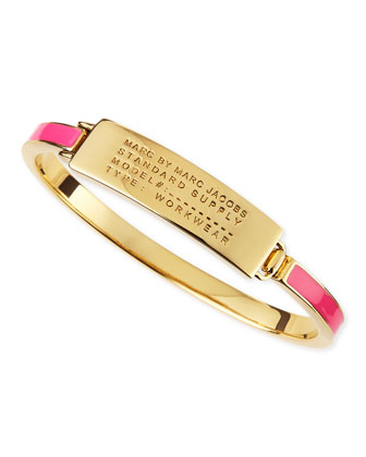 Enamel Standard Supply Bangle, Pink