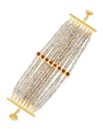 Multi-Strand Labradorite Bracelet