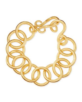 24k Gold-Plated Bronze Classic Link Bracelet