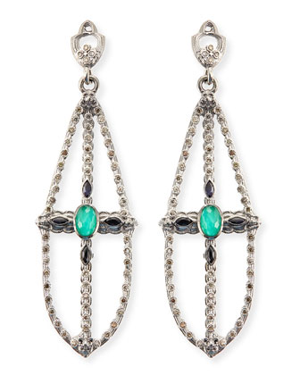 New World Elongated Pear Chandelier Earrings