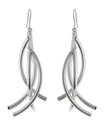 Silver-Plate Twisted Drop Earrings