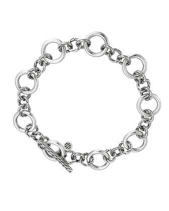 Classic Chain Silver Link Station Bracelet