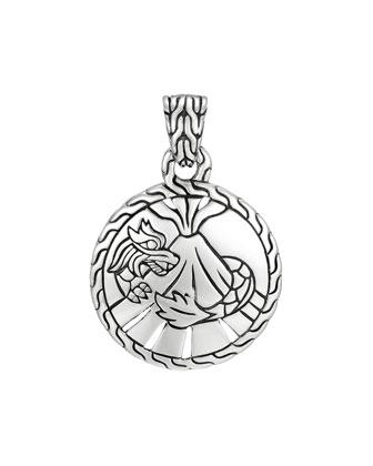 Classic Chain Silver Heritage Round Pendant