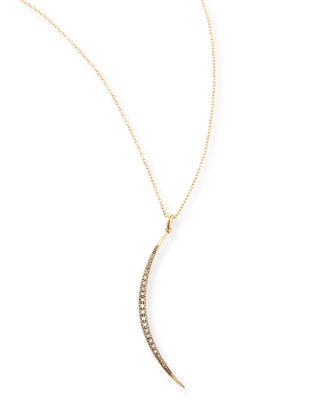 New Medium Crescent Necklace with Diamonds