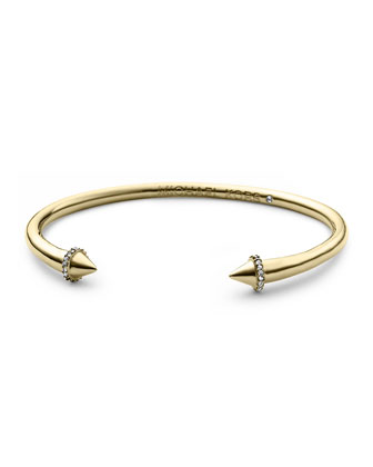 Pave Arrow Cuff, Golden