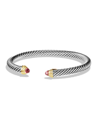 Cable Classics Bracelet with Pink Tourmaline and Gold