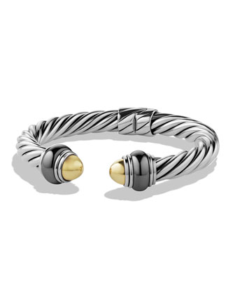 Cable Classics Bracelet with Gold Domes and Hematine