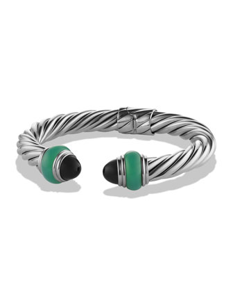 Cable Classics Bracelet with Black Onyx and Green Onyx