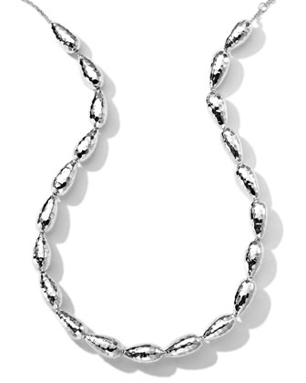 Hammered Silver Chain Necklace, 18