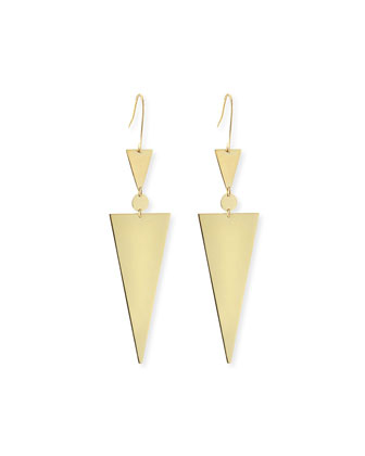 14k Gold Triangle Spike Earrings
