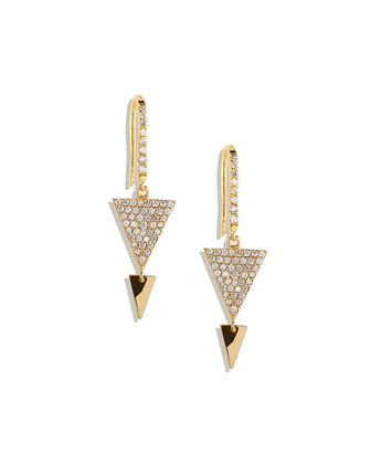 Fatale Pave-Diamond Spike Earrings