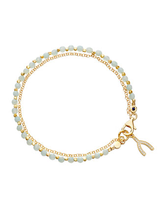 Wishbone Amazonite Friendship Bracelet