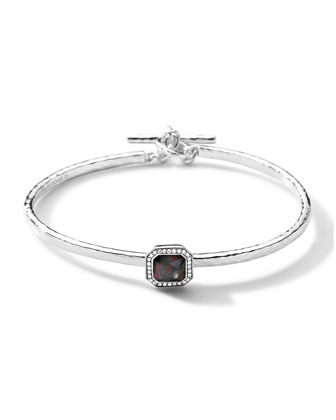 Stella Toggle Bracelet with Black Shell Cushion & Diamonds