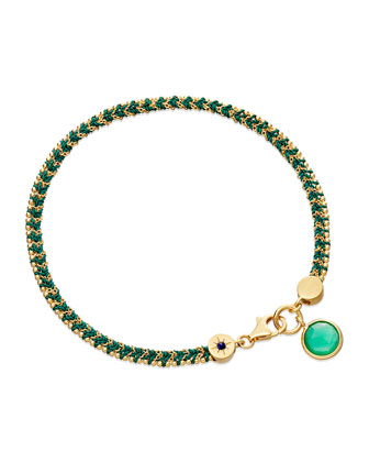 Let's Dance Bracelet with Green Quartz