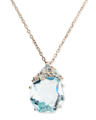 Topaz & Diamond Pendant Necklace