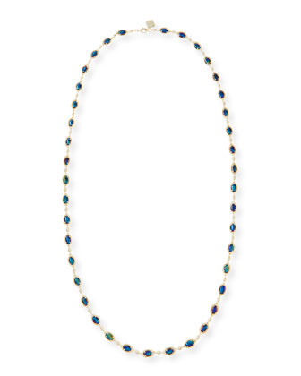 Gale Yard-Long Necklace, Black Iridescent