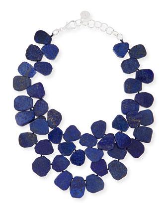 Lapis Cluster Necklace